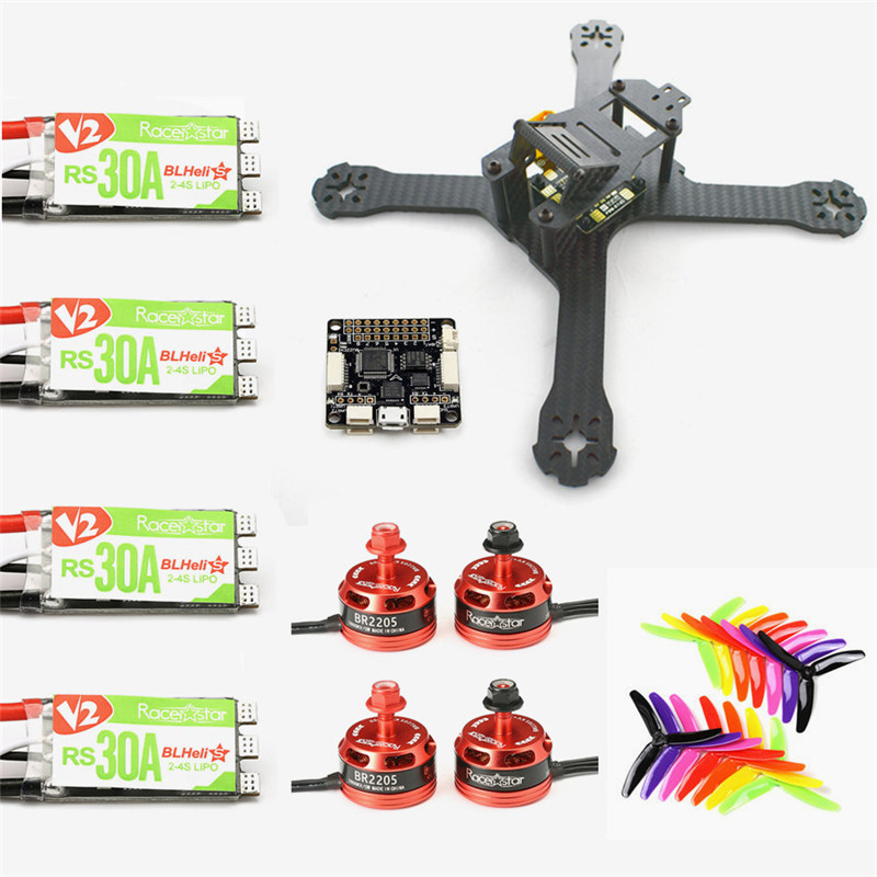 New Arrival Realacc X210 4mm Frame w/ F3 6 DOF Racerstar BR2205 2600KV Motor RS30A V2 Blheli_S 5X4X3 Propellers For RC Model цена и фото