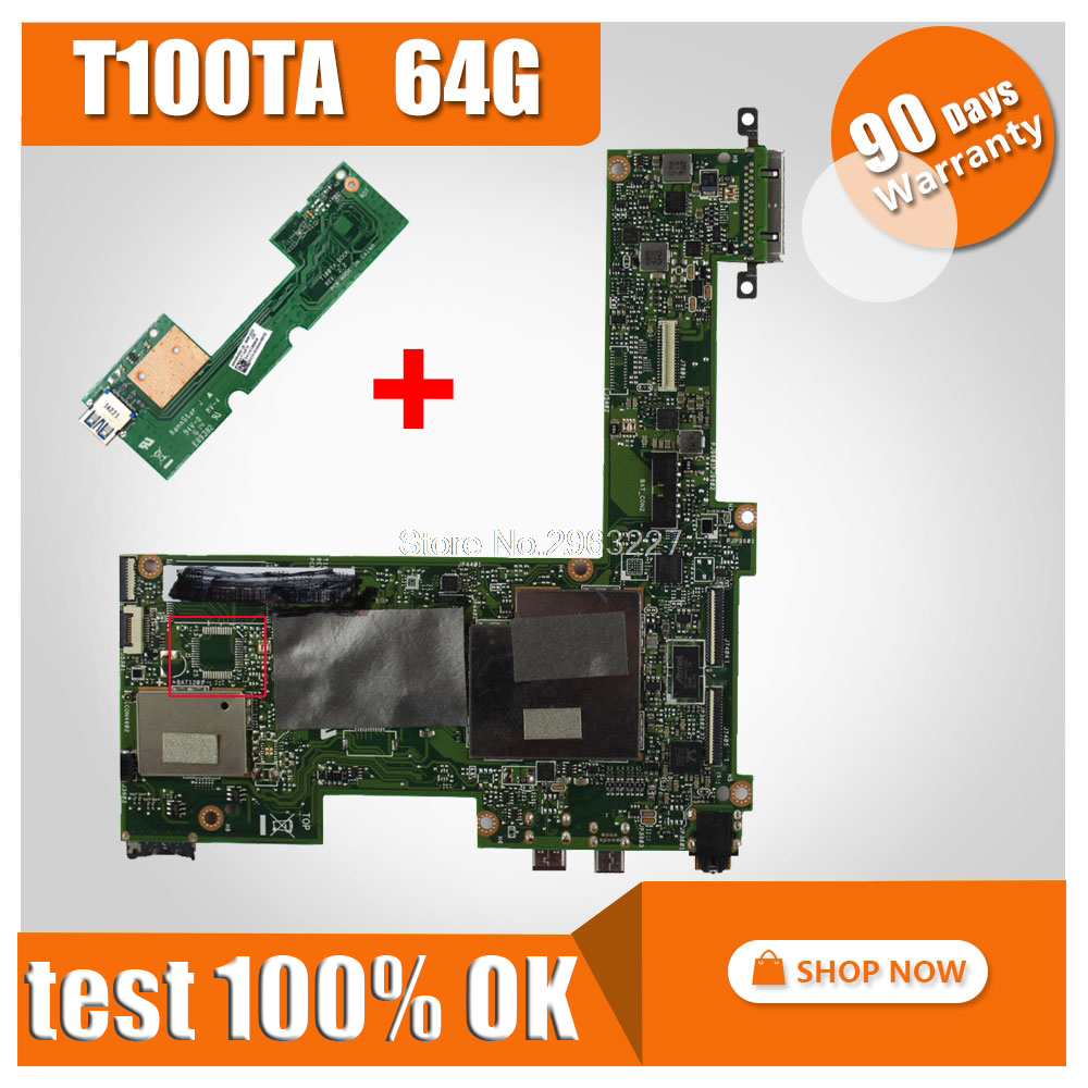 send board + Original for ASUS T100TA 64G motherboard T100TA REV2.0 Mainboard 100% tested mainboard send board t100ta motherboard 64gb for asus t100ta t100taf t100t laptop motherboard t100ta mainboard t100ta motherboard test ok