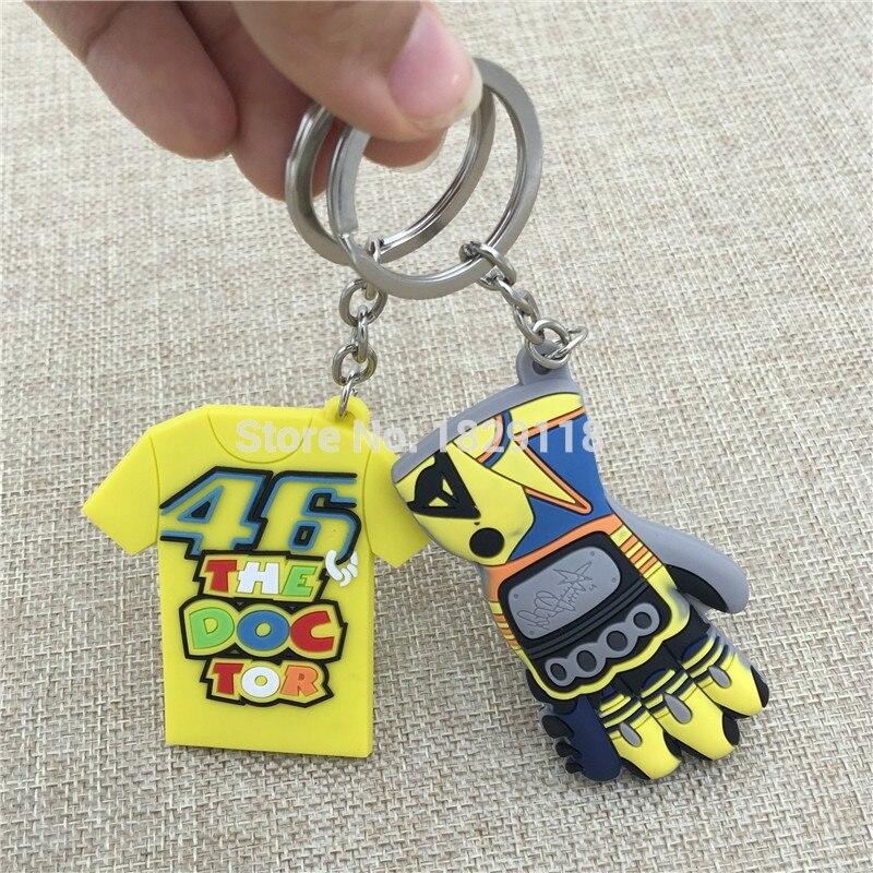 MOTOGP Valentino Rossi VR46 key ring VR 46 Cap keychain Emblem NO.46 The Doctor T-shirt Key chains