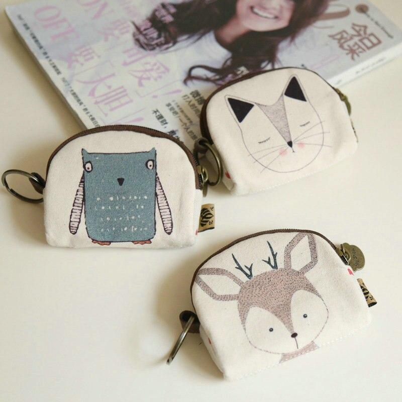 Coin Purses Creative cartoon zero wallet Scalloped small cloth Girl lovely key package mini pocket