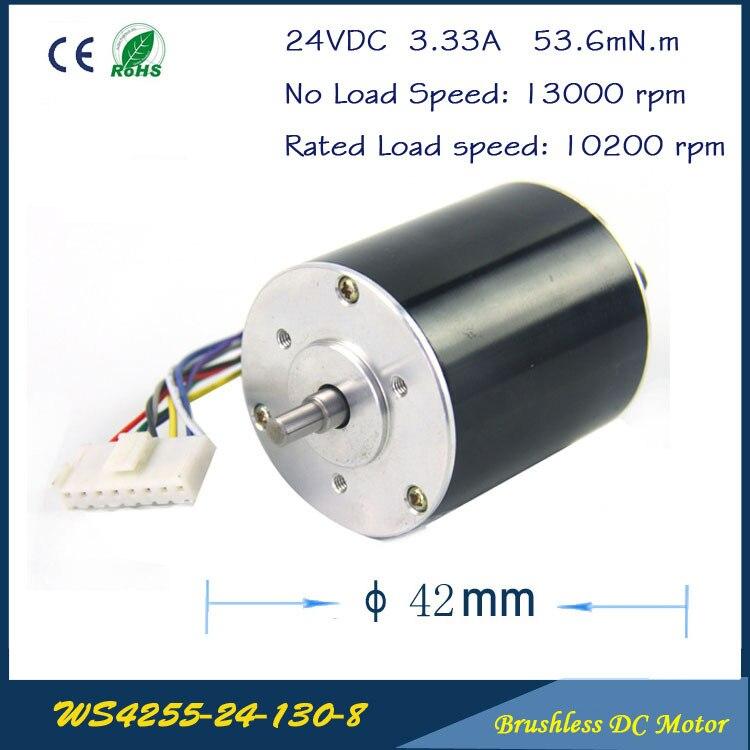 13000 t/mn 73 W 24 V 3.33A 42mm * 55mm 3 phases Hall sans brosse DC Micro moteur haute vitesse DC moteur pour ventilateur, pompe à air ou boîte de vitesses
