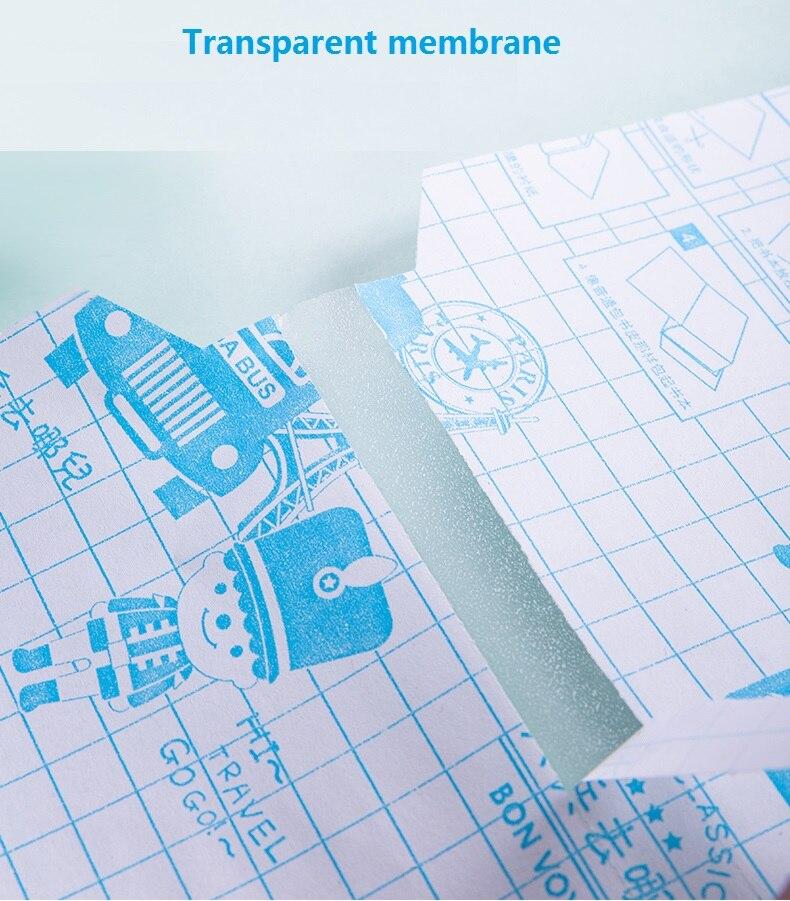 16 k a4 transparente livro claro cobre