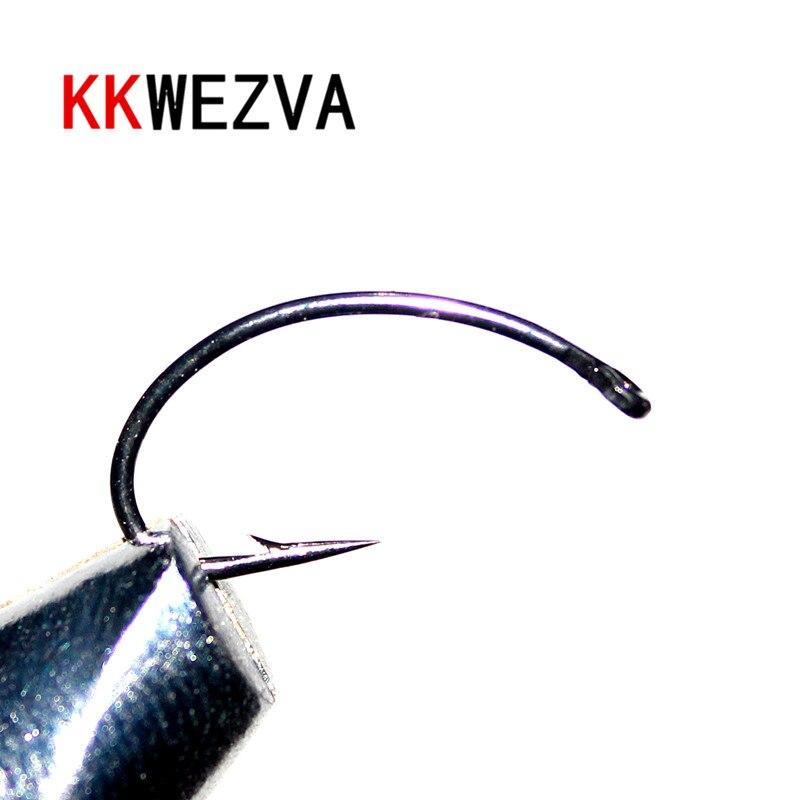 KKWEZVA 100PCS Size #8 #10 Black hooks Multiple Color Trout Fishing Flies Scud Shrimps Scud Cezch Fly Fishing Fly Nymphs hooks