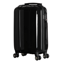 20 Inch Travelling Luggage Super Light PC Luggage Cabin Suitcase Trolley On Wheels 360 Degree Spinner Luggage Black