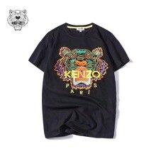 7deb8c84631 2019 été Designer t-shirts hauts pour hommes tête de tigre lettre broderie t -shirt hommes marque de luxe à manches courtes t-.