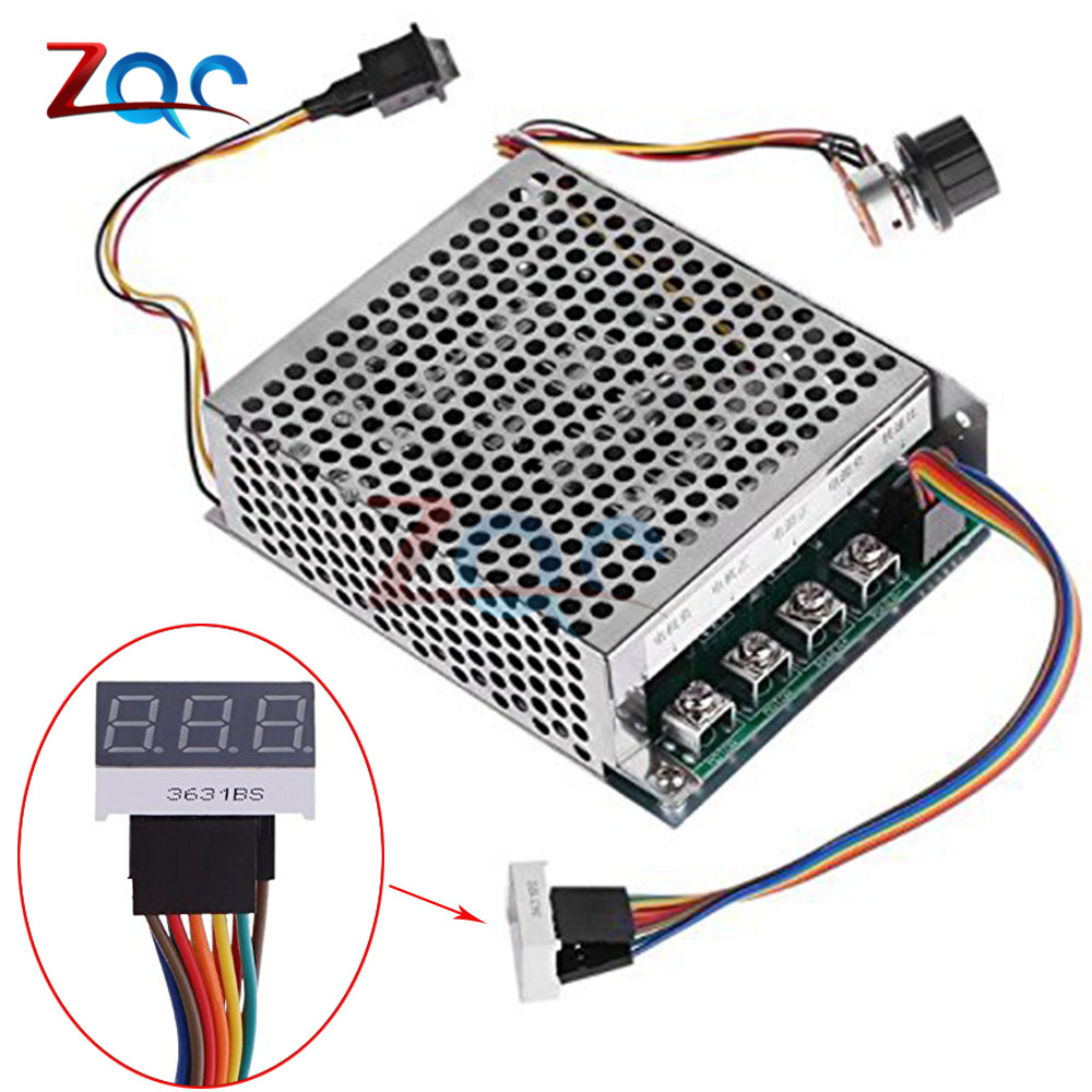 Pwm Dc Motor Speed Controller Dc10 55v Digital Display 0100 Stepper Pulse Signal Generator Module Adjustable 10 60a