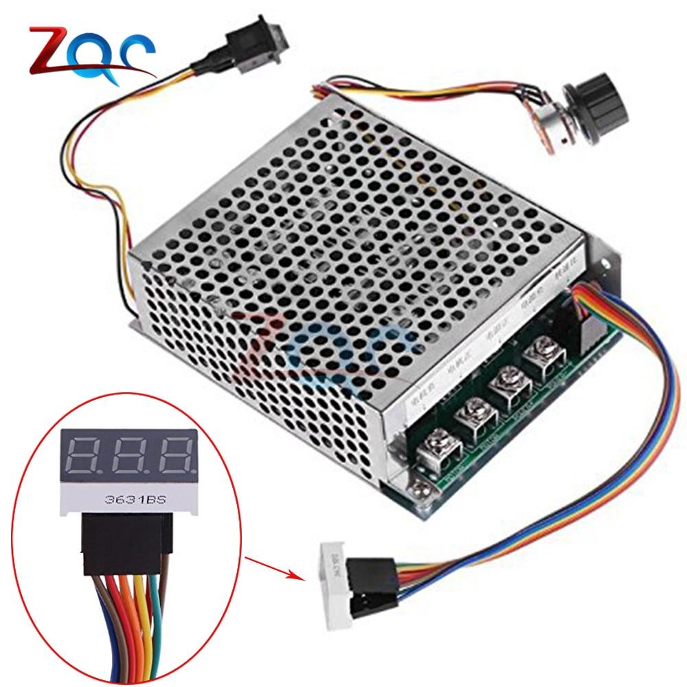 Digital Display 0~100% adjustable 10-55V 60A DC Motor Speed Controller PWM 12V 24V 48V 2000W MAX 100A Reversible Potentiometer