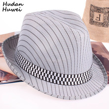 Fashion Men Fast Dry Jazz Caps Women Fedora Hat Striped Summer Hats for  Women Beach Floppy Panama Sun Cap Hat for Adults GH-527 d904bdabba58