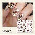 YZWLE 1 Шт. Nail Art Воды Наклейка Nails Красоты Обертывания Фольга Для Ногтей Наклейки Временные Татуировки Watermark (YZW123)