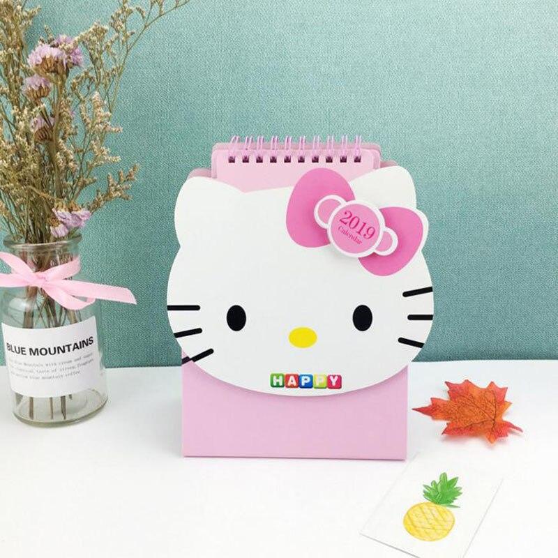 1 Stücke Kawaii Cartoon Japan Hallo Kitty 2019 Jahr Papier Kalender Student Kinder Geschenk Schreibwaren