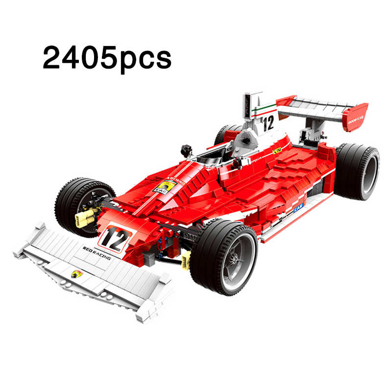 2405pcs The Red Power Racer Set Ferr Racing Car Model compatible legoeinglys Building Blocks Bricks Toys For Children Gift