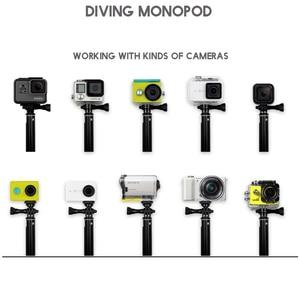 "Image 2 - 36"" Go Pro selfie Stick Action Camera diving Extendable Aluminium Selfie Monopod For GoPro HERO + SJCAM For Xiaomi yi 4k"