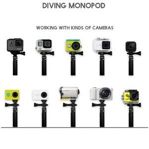 "Image 2 - 36 ""الذهاب برو selfie عصا عمل كاميرا الغوص للتمديد الألومنيوم Selfie Monopod ل GoPro بطل SJCAM ل شاومي يي 4k"