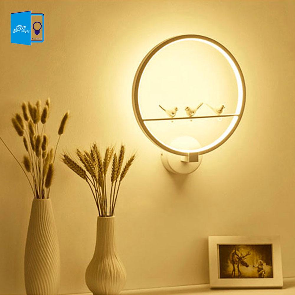 [DBF]LED Wall Lamp LED Sconce Light Art Bird 19W Modern Home Decoration wall Light for Bedside Bedroom/Dinning Room/Restroom  пневмошлифмашина metabo dl dbf 457
