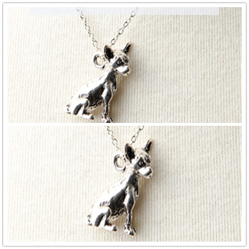 New Arrival Direct Selling Trendy Layer Necklace Collares Colar So Cute 3d Chihuahua Animal Charm Dog Lover pendant