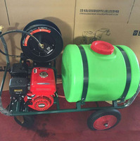160L Mobile Car Washing Machine Gasoline Engine HIgh Pressure Washing Equipment