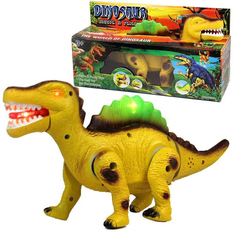 Electronic Simulation Dinosaur Toys Flashing Walking Dinosaur Tyrannosaurus with Sound Glowing Toys for Kids Children