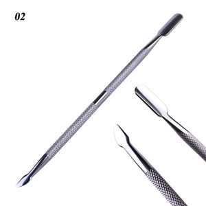 Image 4 - 1pcステンレス鋼ネイルアート両面キューティクル指角質カットリムーバープッシャーマニキュアペディキュアツールLA1 9