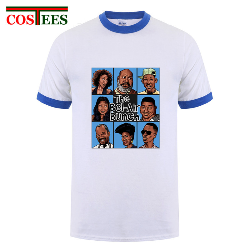 Fantasy TV show Fresh Prince of Bel Air T Shirt men casual anime T-Shirt Homme hiphop streetwear The Bel-Air Bunch tshirt hombre image