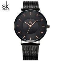 Black Ultra Thin Women Fashion Quartz Watches Elegant Dress Ladies Watch 2017 New Relojes Mujer Quartz