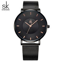 Black Ultra Thin Women Fashion Quartz Watches Elegant Dress Ladies Watch 2017 New Relojes Mujer Quartz