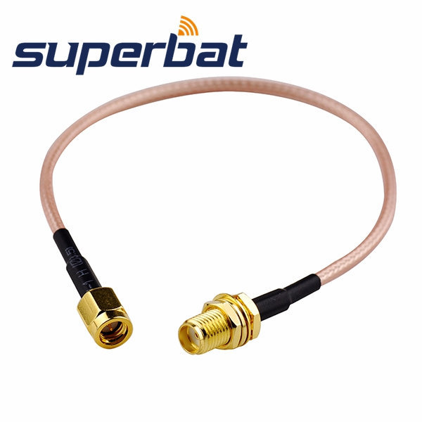 Superbat SMA Female Jack Bulkhead To SSMA Plug Male Straight Pigtail Cable RG316 20cm For Wireless