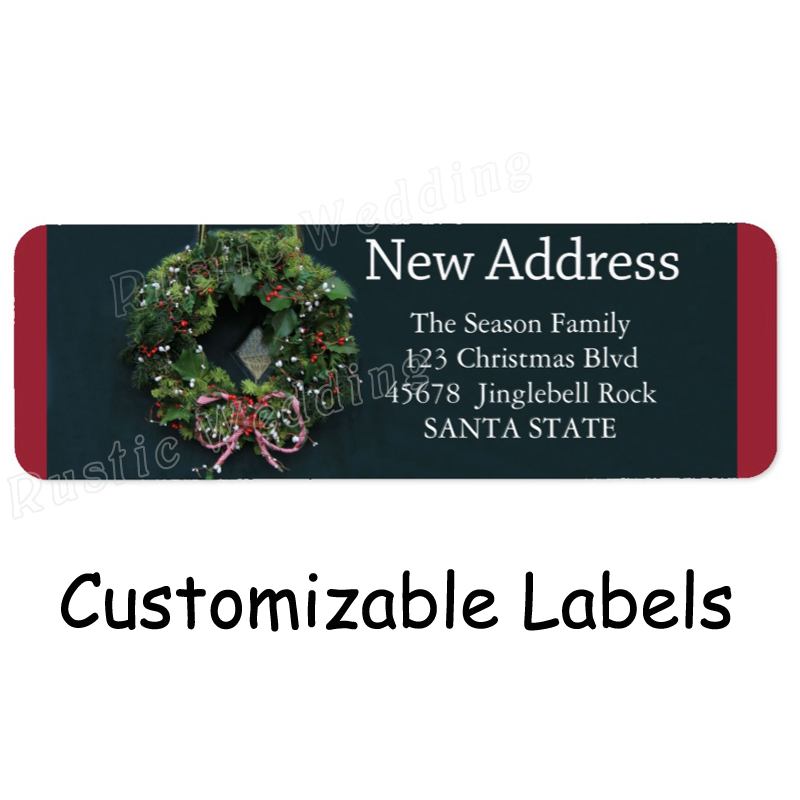 new address x mas wreath holiday label address labels merry kissmas christmas goodie bag label tags for gift bags holders in stockings gift holders