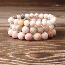 Lingxiang Natural powder opal bracelet is suitable for the wrist to wear crystal gem fashion women men