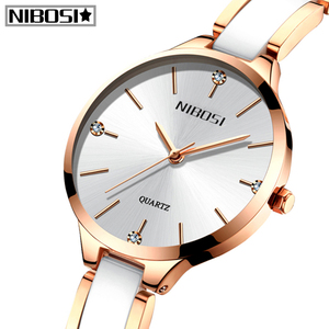 Image 2 - 2020 NIBOSI New Rose Gold Women Watch Relogio Feminin Business Quartz Watch Top Brand Luxury Ladies Female Wristwatch Girl Clock