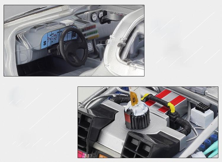 DMC-12 Delorean Back To The Future Time Machine Model Car 17