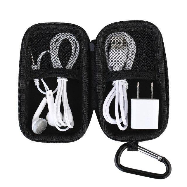 高品質ポータブル保護ハードケース、 MP3 プレーヤーケース、メッシュポケット、 Zipper エンクロージャ、ホルダーと金属カラビナクリップ