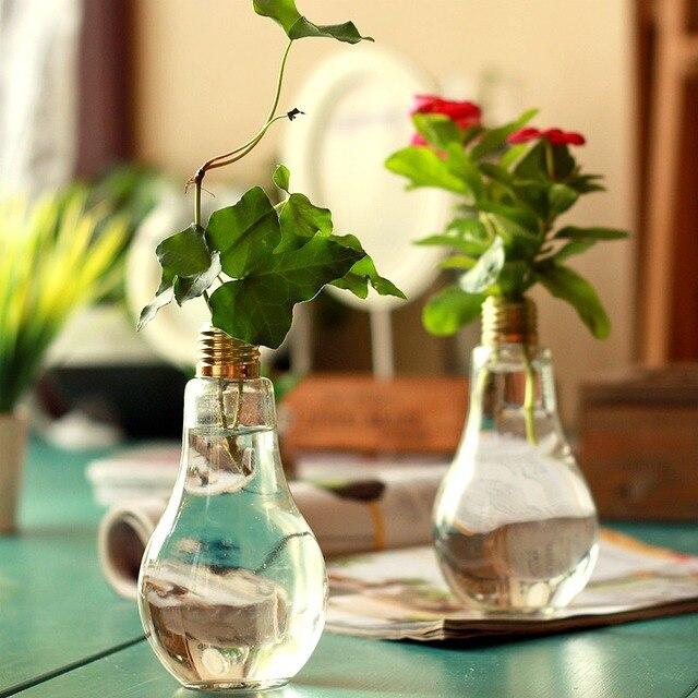 macetas macetas decoracin del hogar floreros jarrones decorativos de vidrio florero bulbo partido decoraciones de la - Jarrones Decorativos