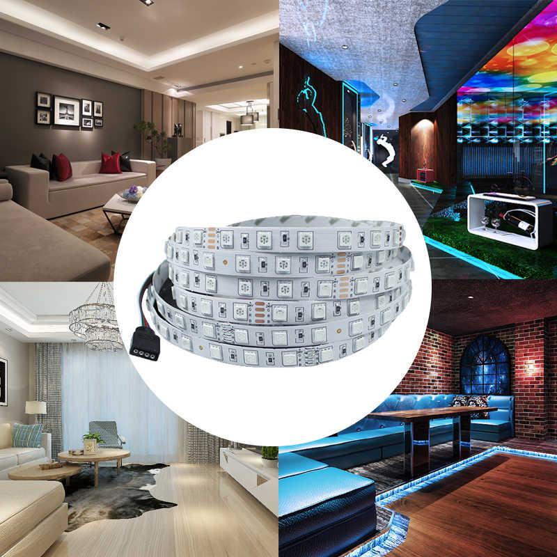 5 M Tahan Air LED Strip 300 LED DC12V SMD 5050 3528 Flexible Light LED Ribbon Tape Luz Monokrom Dekorasi Rumah lampu