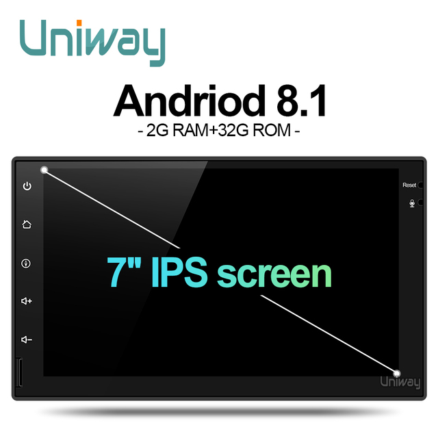 Uniway AWD7071  android 8.1  car dvd for nissan qashqai x-trail almera note juke universal multimedia car gps navigation player