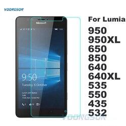 Écran En Verre Trempé Pour Microsoft Nokia Lumia 640 640XL 950 950XL 530 650 550 535 532 630 Prime 6 2017 5 3 Film de Protection
