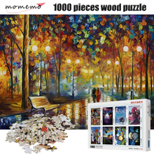 MOMEMO Lovers In Rainy Night Puzzle 1000 Pieces Wooden High Definition Adult Decompression Puzzles Jigsaw Toy