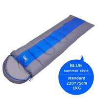 Standard 1KG blue-Camping Lightweight 4 Season Warm Cold Envelope Backpacking Sleeping Bag