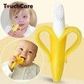 Высокое Качество И Экологически Безопасного Детского Прорезыватель Зубные Кольца Банан Силикона Зубная Щетка