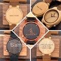 BOBO PÁJARO Personalidad Logotipo de Diseño Creativo MENSAJE Grabado Tallado Reloj De Madera Del Personalizar Bambú Artículos No Producto de Personalización