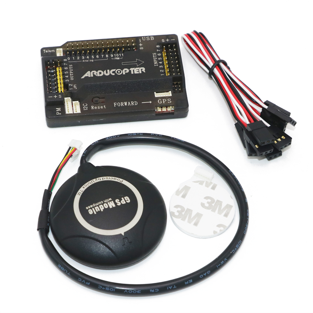 APM 2.8 ArduPilot Mega External Compass APM Flight Controller  with Ublox NEO-7M GPS for FPV RC Drone Aircraft apm 2 6 flight controller board ardupilot mega 2 6 version with side pin connector for multicopter