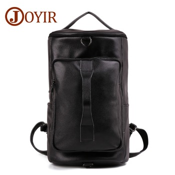JOYIR Genuine Leather Men Backpack Multi-function Fashion Men Travel Bag Men Large-capacity Outdoor Mountaineering Backpack 6357