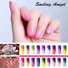 Smiling Angel 8ML Temperature Change Chameleon make up Color Changing UV Soak Off Nail Gel Polish Long Lasting UV Gel Varnish