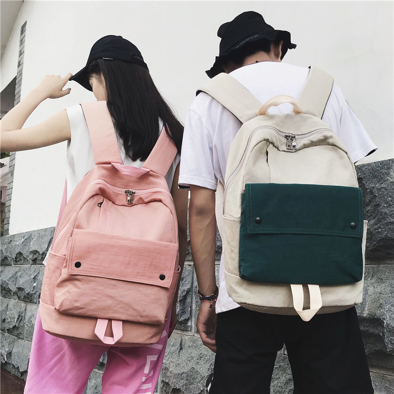 Korean Harajuku Ulzzang Canvas Backpack Travel Schoolbag Fashion Street Trend Mochilas Bags Men Women Backpack Knapsack free shipping si3n4 6005 full ceramic bearing 25x47x12mm ceramic ball bearing si3n4