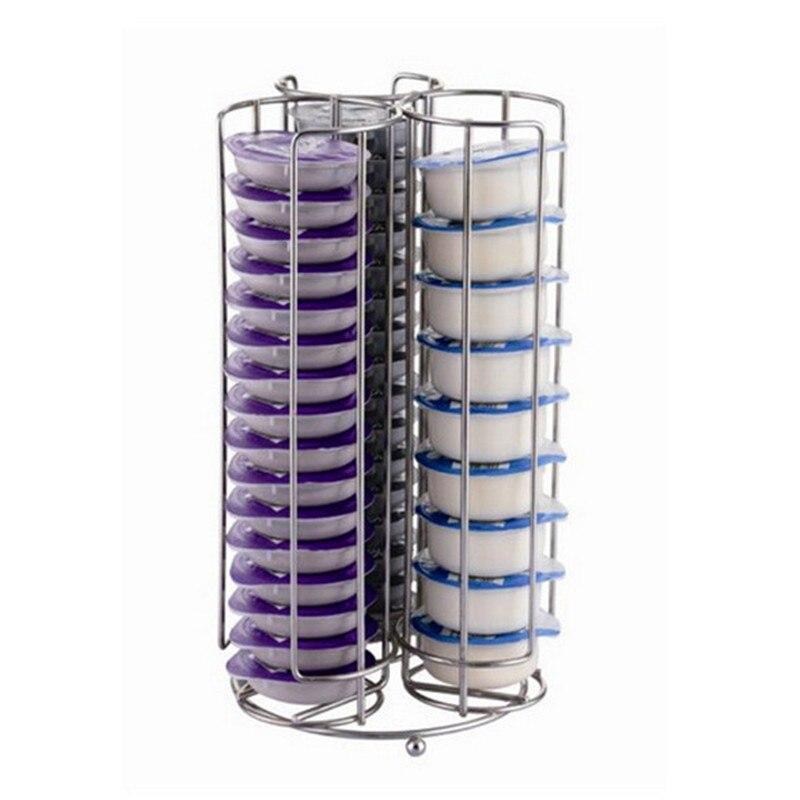 Para 48/32 copos tassimo cápsulas de café suportes prateleiras prateleiras de armazenamento de cozinha em pé 2 modelos