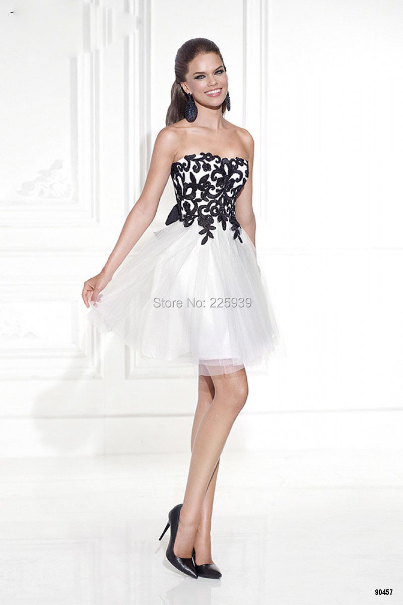 Black And White Homecoming Dress - Missy Dress