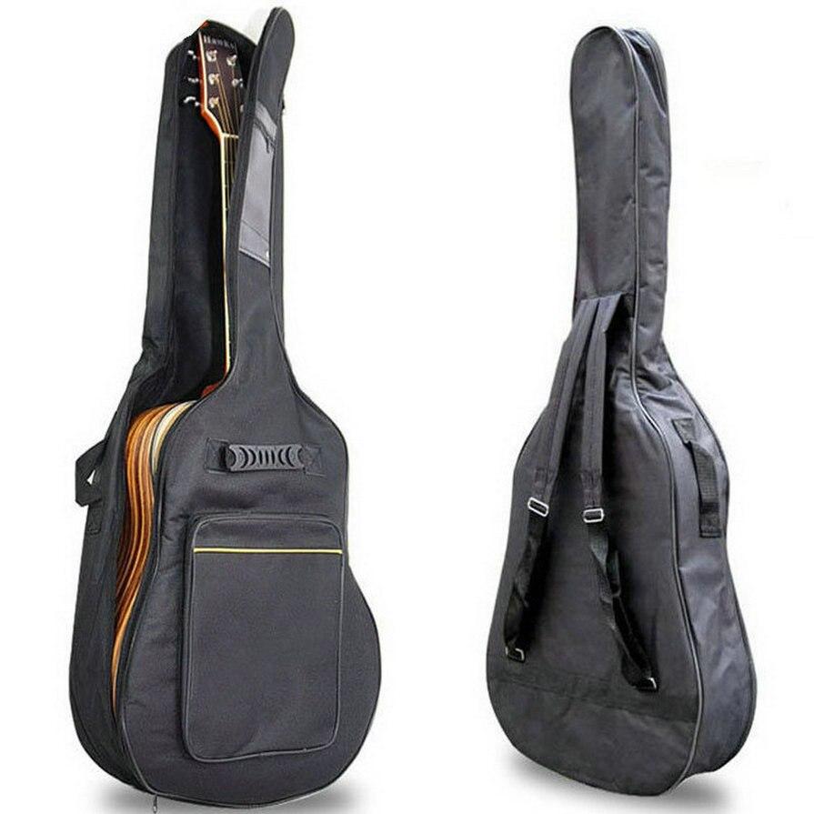 Cose 41 Guitarra acústica mochila doble correas de guitarra suave caso trabajo mochila bolsa de envío gratis