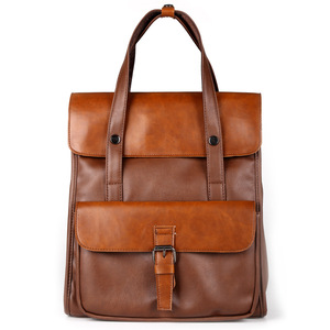 Рюкзак мужской, винтажный, кожаный, для ноутбука