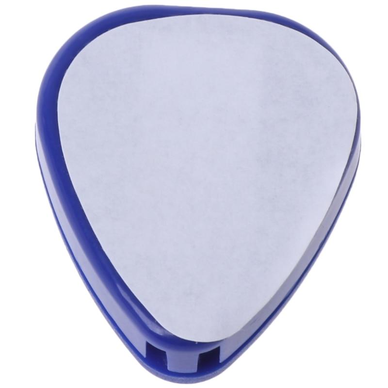 5pcs Pick Box Guitar Accessories Plectrum Heart Shaped Pick Holder Box Musical Instrument Color Random delivery