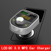 Thbelieve Car USB Charger Bluetooth Mobile Phone Car Chargers QC 3.0 USB Auto Charger 5V 1A Auto Charging For IPhone Drop Ship