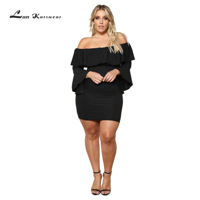 3e1d8d5cd73 Elegant Short Party Dresses Off Shoulder Women 2019 Large Size Sexy  Clubwear Party Bodycon Dress Femme